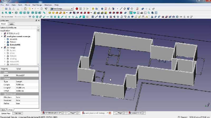FreeCAD is an open source CAD software designed for 3D modeling.