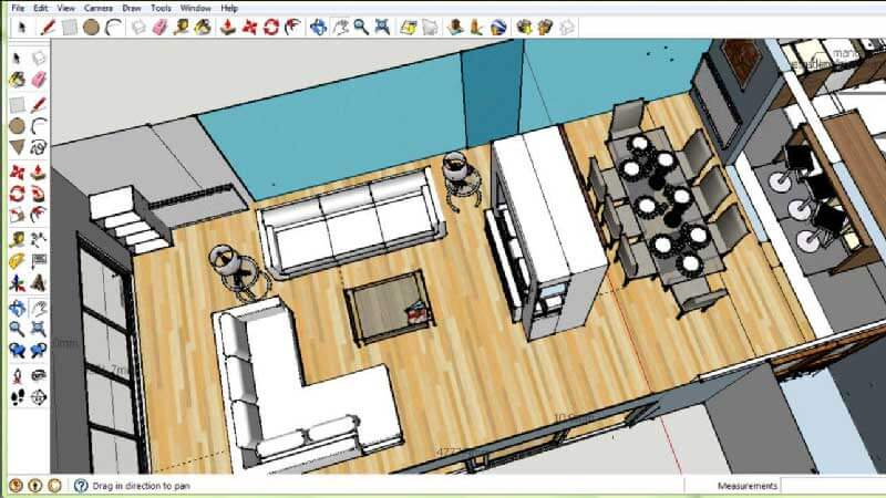 Sketchup is a CAD software built to create 3D designs and 2D documentation