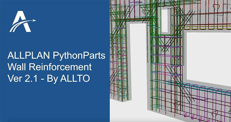 ALLPLAN Wall Reinforcement PythonParts version 2.1 - Developed by ALLTO
